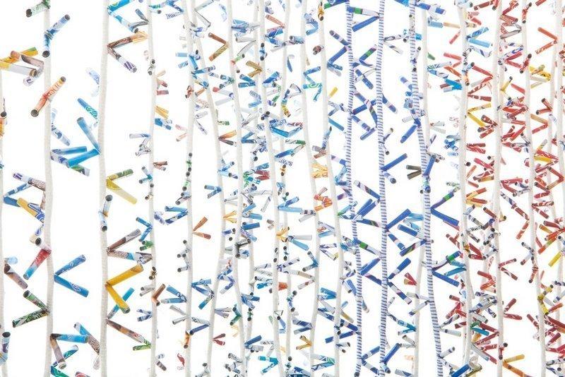Rosmarie Artmann-Graf: Fleissiges Lieschen, Detail Foto freundlicherweise von 'art textil sent' zur Verfügung gestellt