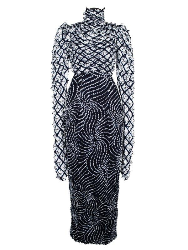 Shibori-Kleid, 1995 © Stadtmuseum Simeonstift Foto freundlicherweise vom Museum zur Verfügung gestellt