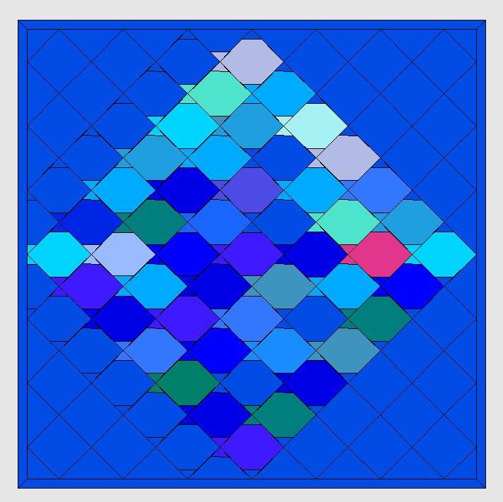 Tessellationmuster Fische nähenn