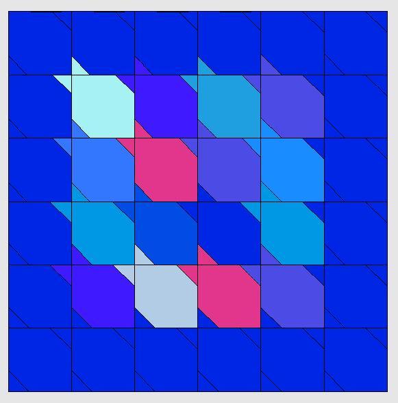 Tessellationmuster Fische nähen