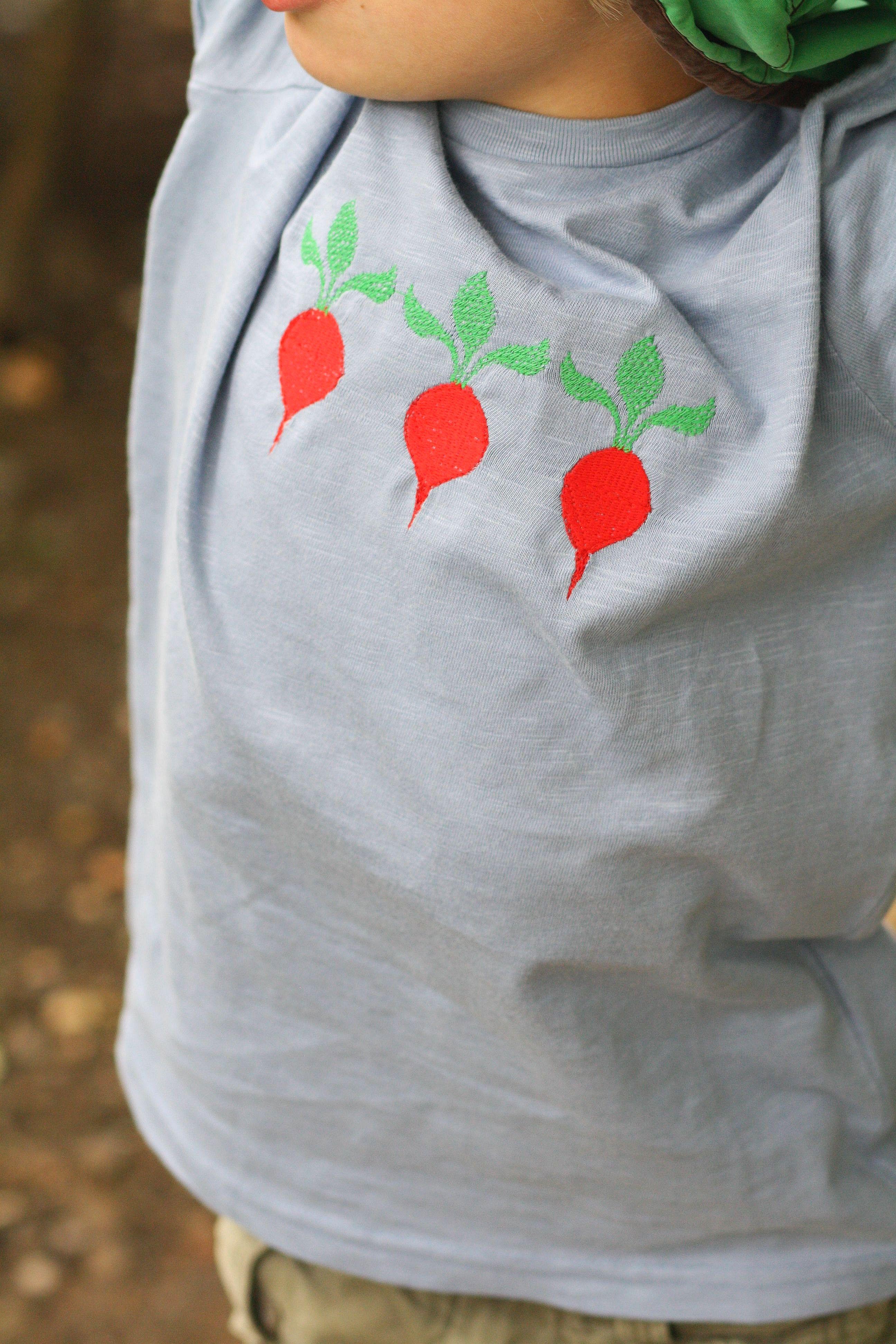 Tipps und Tricks: Positionieren einer Stickerei auf einem T-Shirt ...