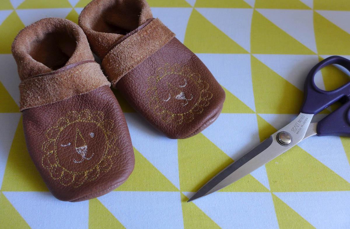 Nähprojekt: Babyschuhe aus Leder