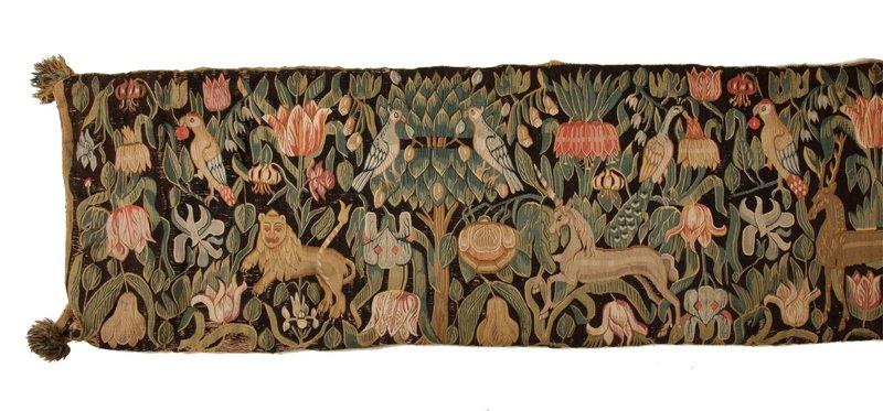 Rückenpolster einer Bank, 2. Hälfte 17. Jh., vermutlich nördliche Niederlande, Detail © Dithmarscher Landesmuseum Meldorf, Olaf Möller Foto freundlicherweise vom Museum zur Verfügung gestellt