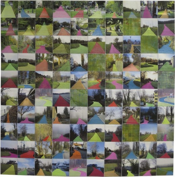 Cécile Trentini (Schweiz): Daily Walking 5 95 x 95 cm