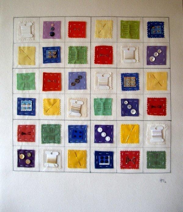 Heidemarie Mönkemeyer: Das Sudoku der Schneiderin Foto freundlicherweise von der Künstlerin zur Verfügung gestellt