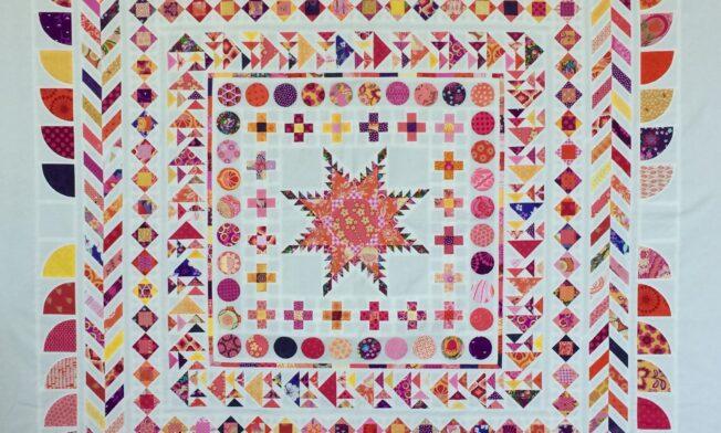 Quiltmanufaktur Medaillon Quilt Along - Quilttop finish