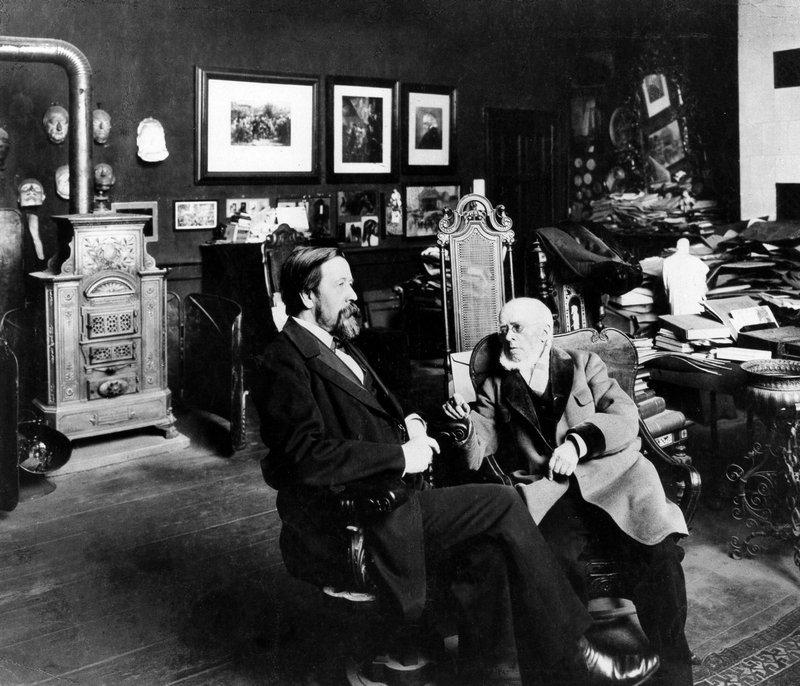 Zander & Labisch, Anton von Werner (li) und Adolph von Menzel (re), Berlin, 1900 © ullstein bild Foto freundlicherweise vom Museum zur Verfügung gestellt