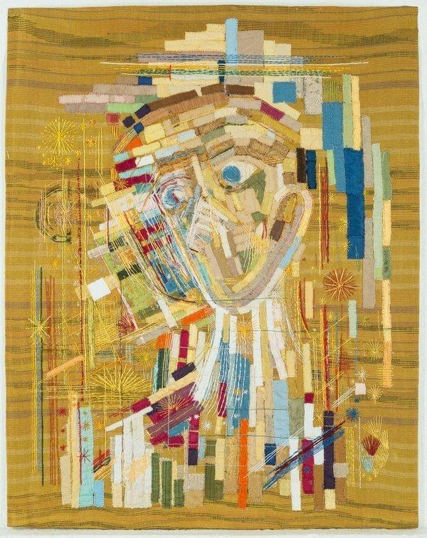 Brigitte Bretschneider: Engel 1983-1993, Applikation und Stickerei Städtische Galerie Dresden Foto: Franz Zadnicek, freundlicherweise von der Städtischen Galerie Dresden zur Verfügung gestellt