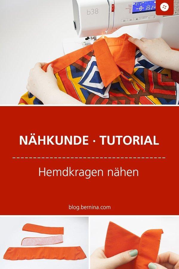 Nähkunde / Tutorials: Perfekten Hemdkragen nähen #nähen #nähtipps #nähhacks #kragen #hemdkragen  #tutorial #nähanleitung