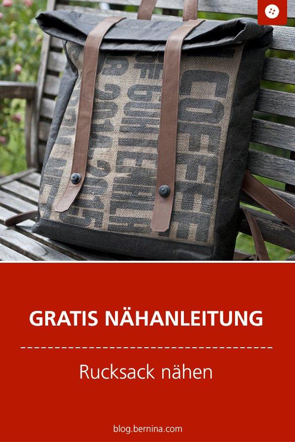 Kostenlose Nähanleitung: Rucksack für Männer nähen