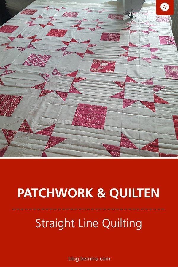 Tipps für Patchworker: Straight Line Quilting #tutorial #anleitung #patchwork #quilten #straightline #quilting #bernina #nähanleitung #diy #tutorial #freebie #freebook #kostenlos