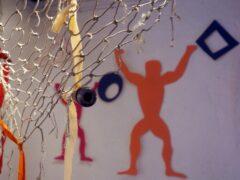 Gudrun Heinz & Sarah Schultz: Im Netz der Liebe, Detail MÄNNER – Ausstellungsprojekt von Gudrun Heinz & Sarah Schultz