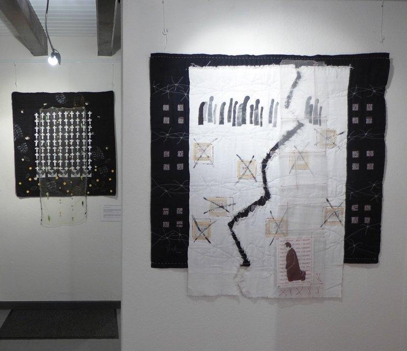 Gudrun Heinz: 1914 :: 1984 :: 2014 (li), Warschauer Kniefall (re) MÄNNER – Ausstellungsprojekt von Gudrun Heinz & Sarah Schultz