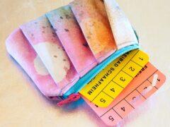 SnapPap färben mit Textilsprühfarben Gedlbeutel Freebie