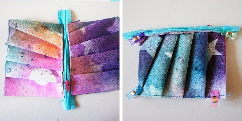 Gratis Schnittmuster: SnapPap färben mit Textilsprühfarbe