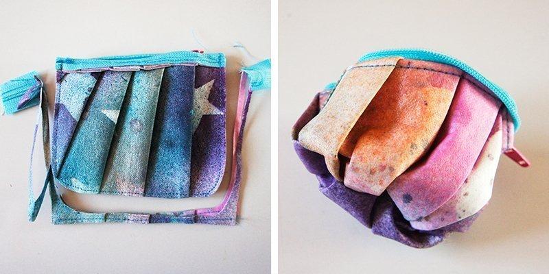 SnapPap färben mit Textilsprühfarben Gedlbeutel Freebie Anleitung