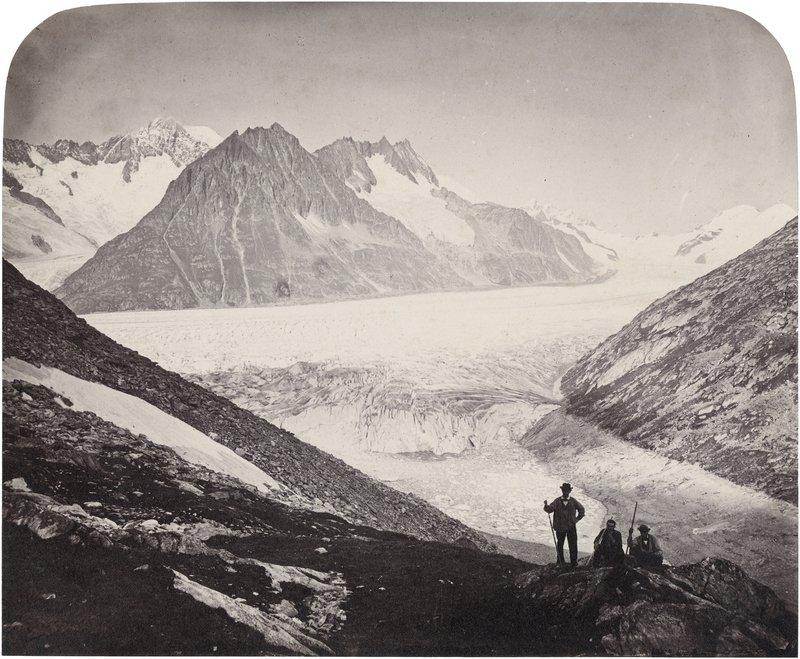 Adolphe Braun, Aletsch-Gletscher, Kanton Wallis, 1862-1865, Albuminpapier © Münchner Stadtmuseum Foto freundlicherweise vom Museum zur Verfügung gestellt
