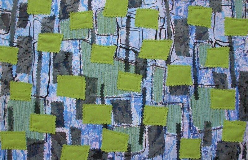 Ruth Ingold-Wöhrle: Grünes Blumenfeld Foto freundlicherweise von der Galerie zur Verfügung gestellt