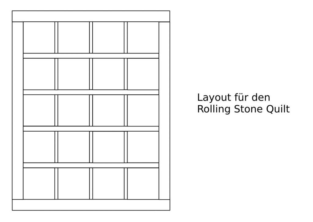 Quiltmanufaktur Layout fuer den Rolling Stone Quilt-1