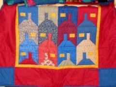 Tessellationmuster Häuser nähen