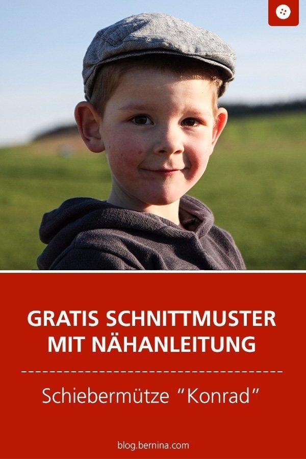 """Kostenloses Schnittmuster mit Nähanleitung für die Schiebermütze """"Konrad"""" #schnittmuster #nähen #mütze #schiebermütze #kinder #junge #bernina #nähanleitung #diy #tutorial #freebie #freebook #kostenlos"""