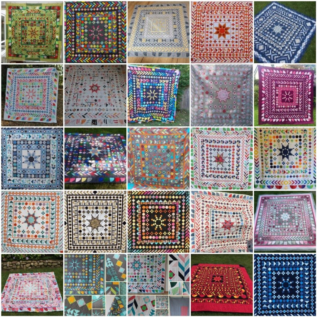 Mosaik 1 - BERNINA Medaillon Quilt Along