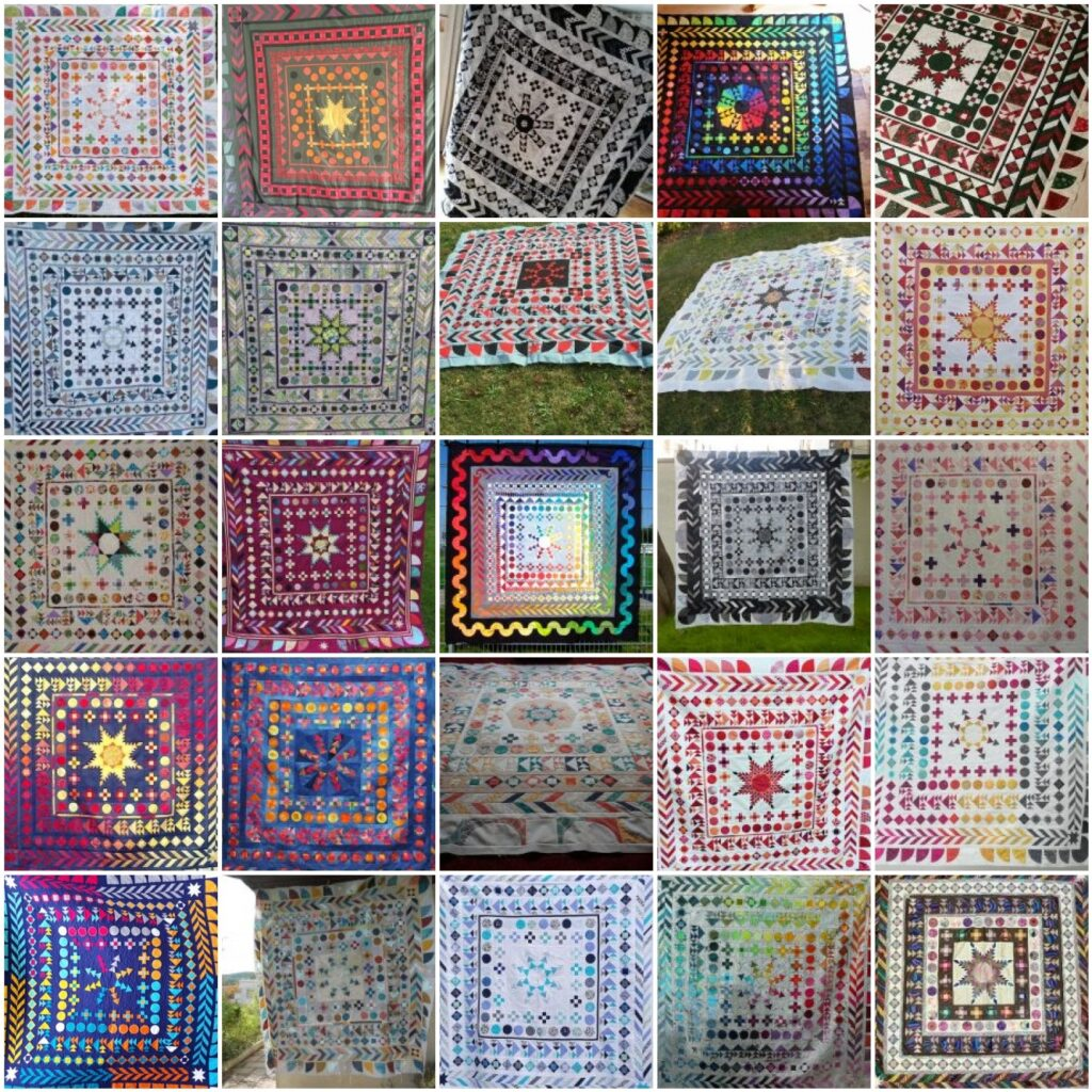 Mosaik 4 - BERNINA Medaillon Quilt Along