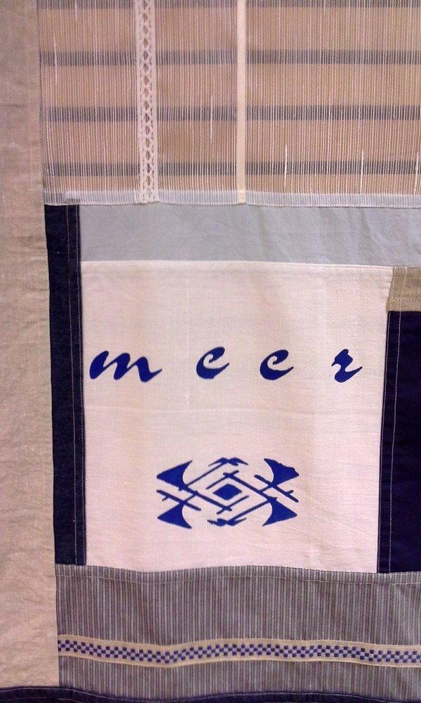 Birgit Berndt: Pojagi 'Meer 1', Detail Foto: Birgit Berndt, freundlicherweise von der Künstlerin zur Verfügung gestellt