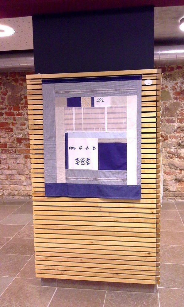 Birgit Berndt: Pojagi 'Meer 1' Foto: Birgit Berndt, freundlicherweise von der Künstlerin zur Verfügung gestellt