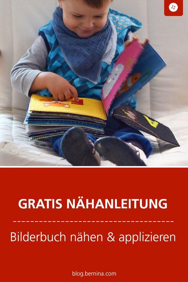 Kostenlose Nähanleitung: Stoff-Bilderbuch nähen & applizieren