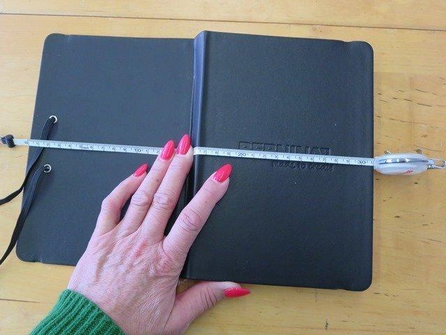 Notizbuch ausmessen