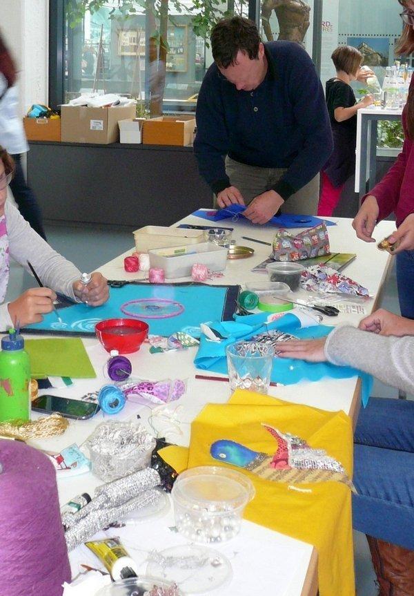 Workshops mit Kindern im tim Foto: U. Brenner