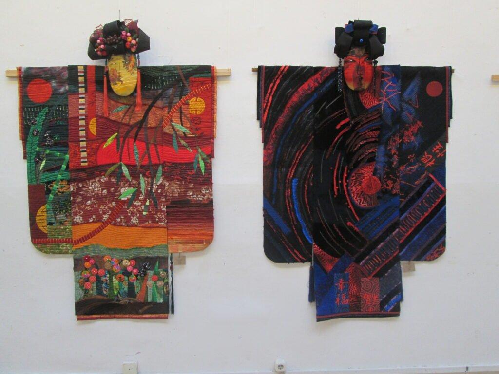 """Rechts: Gordejewa Tatjana, """"Stern"""" (127x165), links: Malzewa Viktoria, """"Wunderbar"""" (131x165)"""