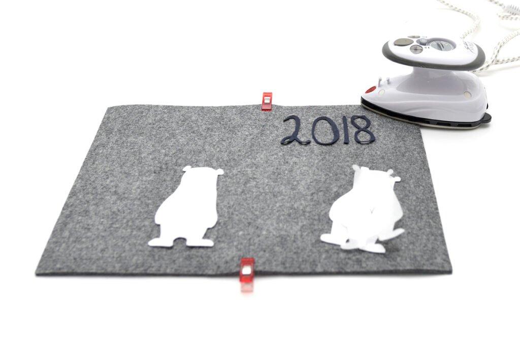 Tutorial Kalenderhülle 2018 nähen und applizieren