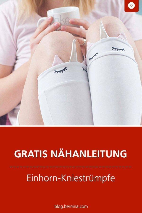 Kostenlose Nähanleitung : Einhorn Kniestrümpfe nähen #anleitung #strümpfe #einhorn #unicorn #nähen #bernina #nähanleitung #diy #tutorial #schnittmuster #freebie #freebook #kostenlos