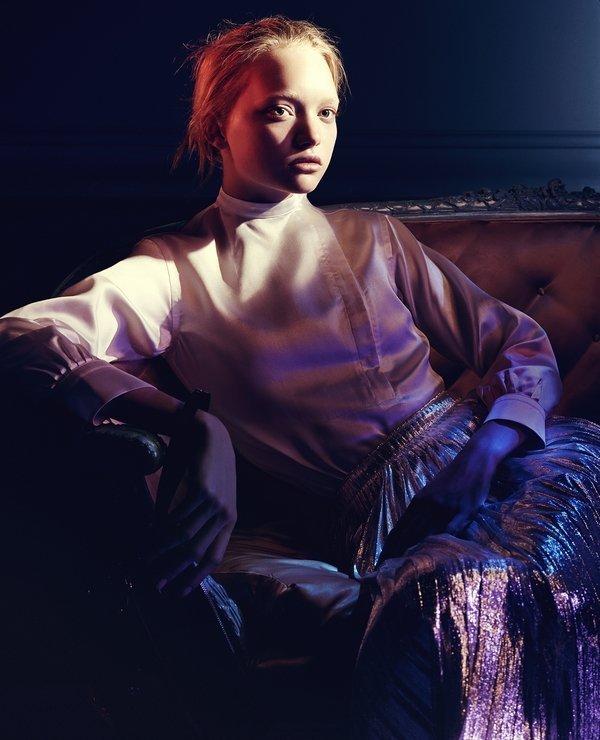 Jil Sander Kampagne Herbst-Winter 2004/2005 Model: Lily Donaldson © David Sims Foto freundlicherweise vom Museum zur Verfügung gestellt