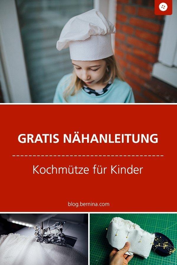 Kostenlose Nähanleitung für eine Kinder-Kochmütze #anleitung #kinder #kochen #mütze #kochmütze #spielen #nähen #bernina #nähanleitung #diy #tutorial #freebie #freebook #kostenlos