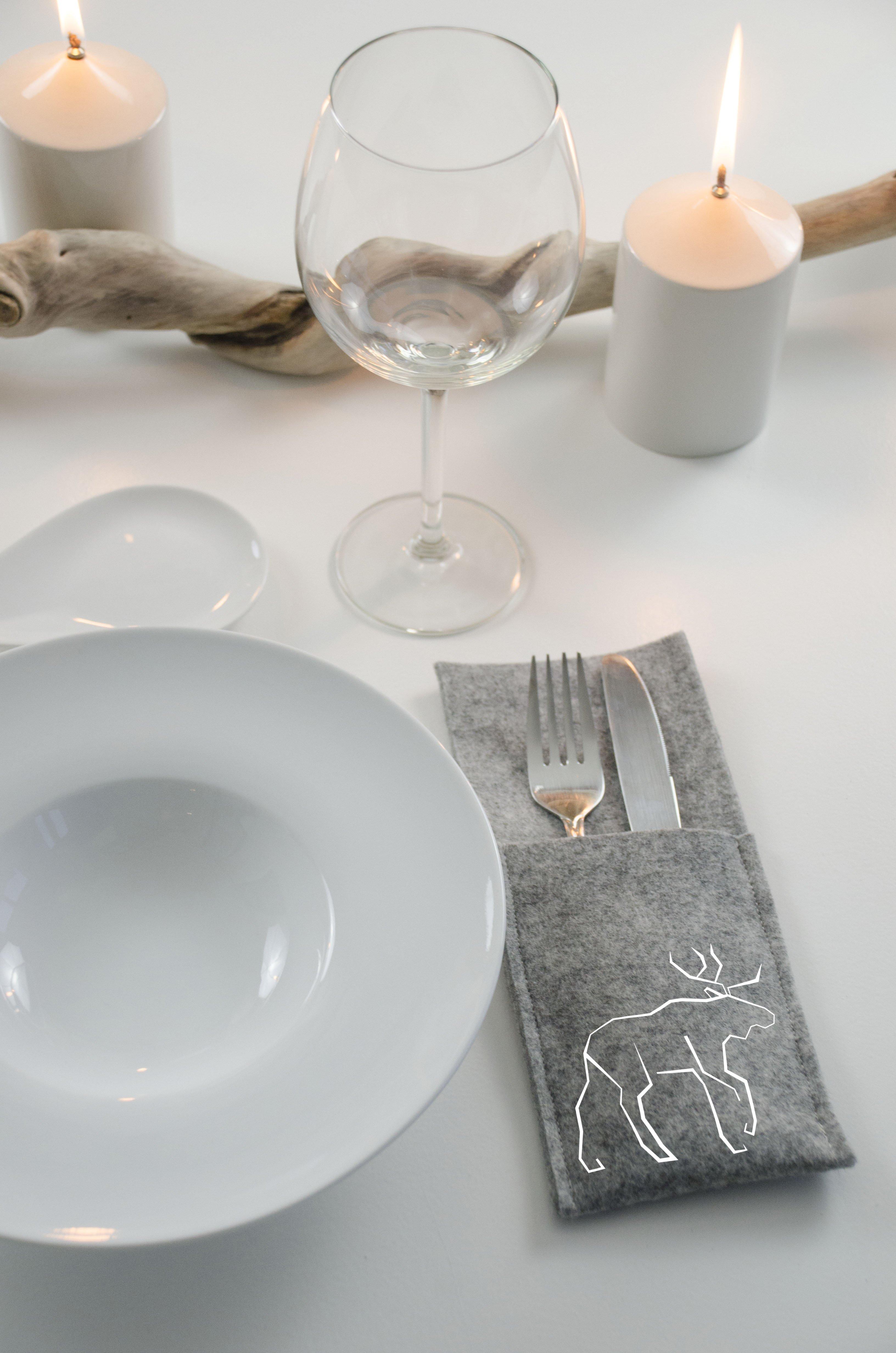 Bestecktasche Nahen Minimalismus Weihnachten Tischdeko Bernina Blog