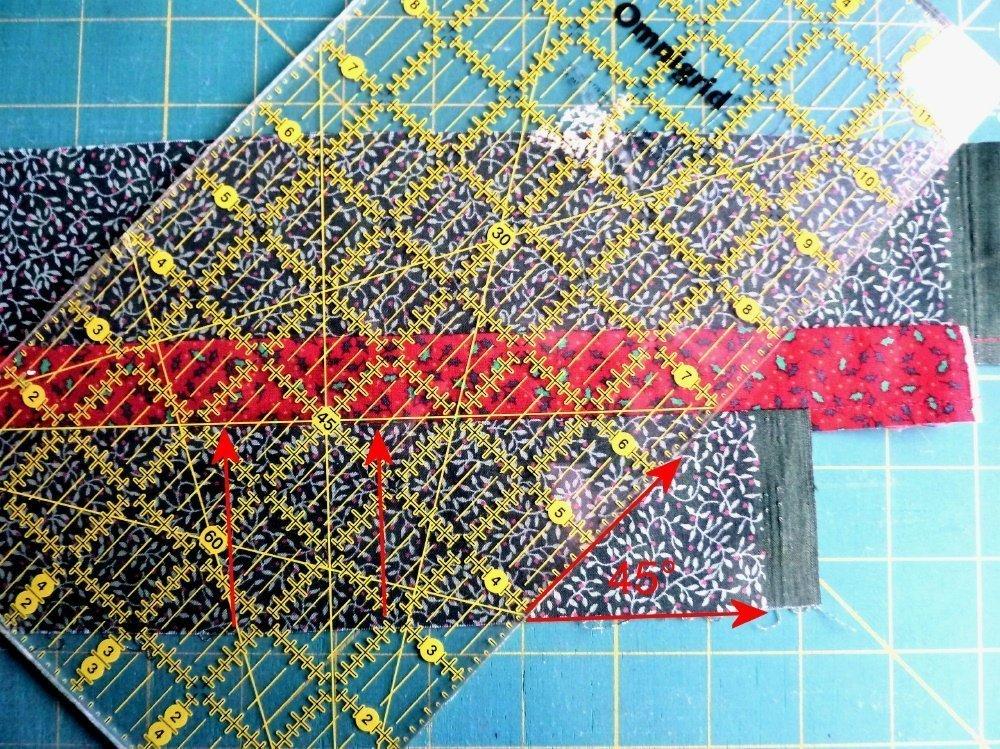 Seminolemuster mit Zickzackstreifen
