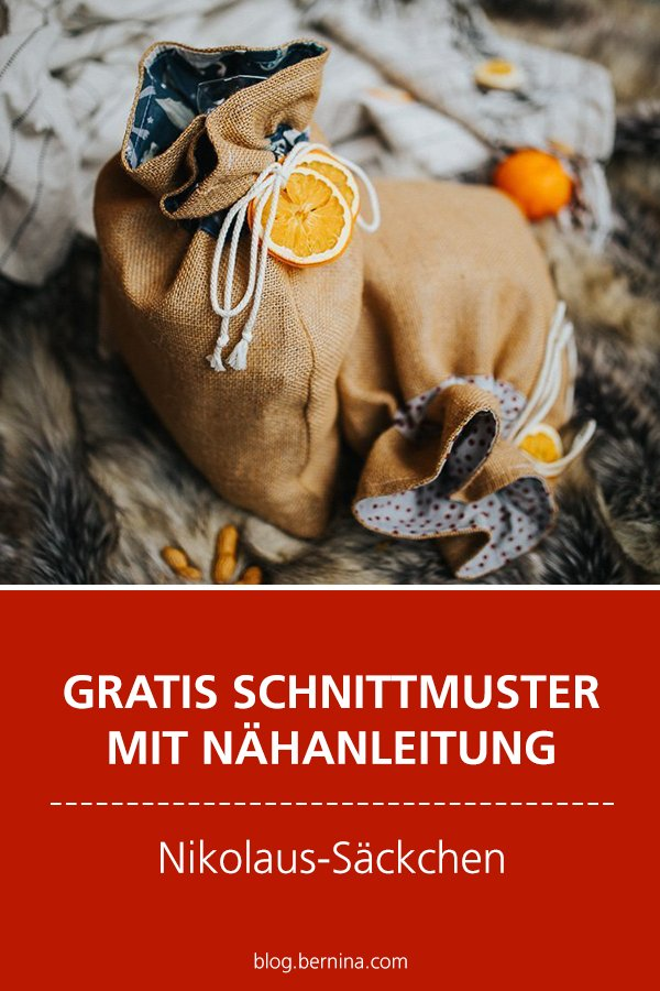 Gratis Schnittmuster mit Nähanleitung (Freebook): Nikolaussack nähen