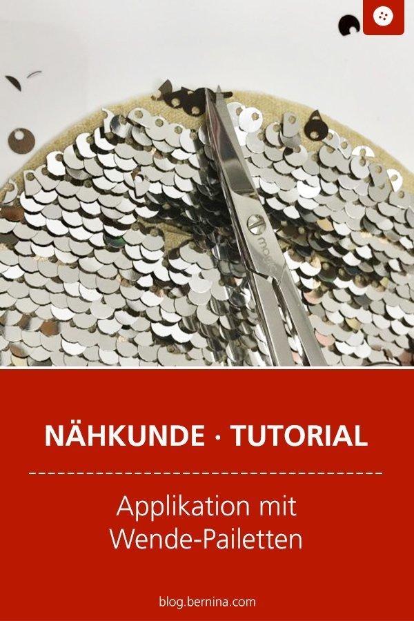 Nähkunde / Tutorials: Applikation mit Wende-Pailletten nähen #nähen #pailetten #kinder #kleidung #wendepailletten #tutorial #overlock #nähanleitung #diy #bernina
