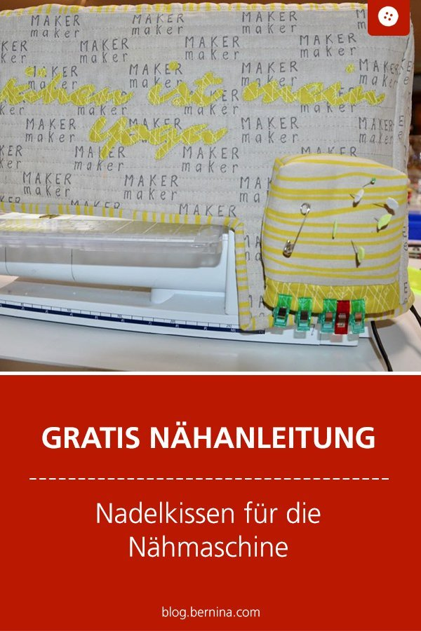 Kostenlose Nähanleitung: Nadelkissen für die Nähmaschine