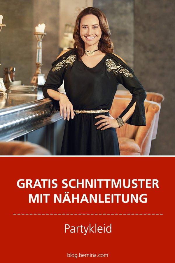 Gratis-Schnittmuster & Nähanleitung: Partykleid