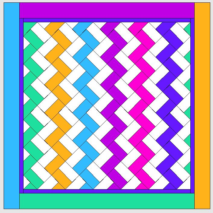 Briefecken nähen und andere Ränder für einen Quilt