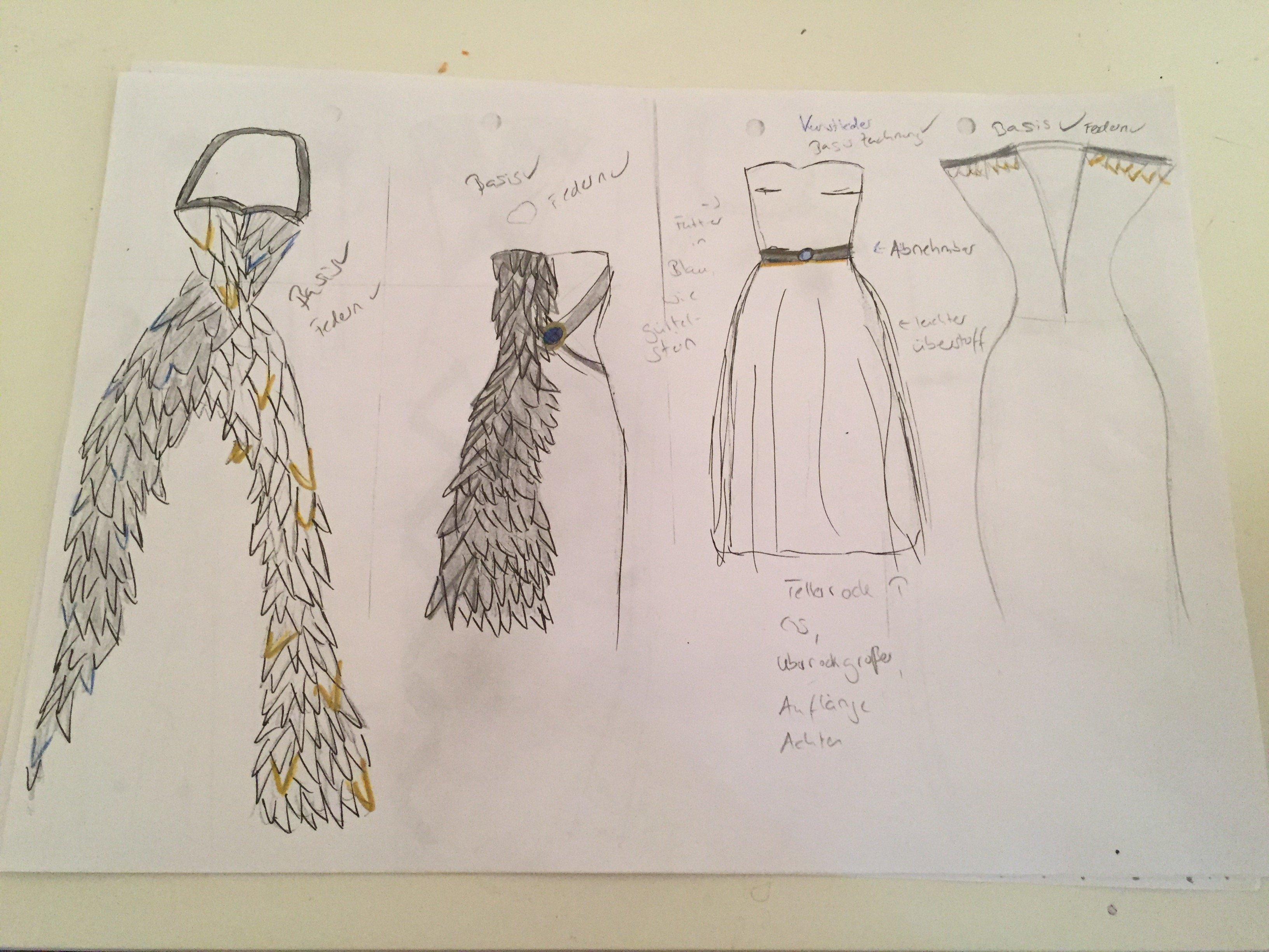 Projektarbeit mit Korsage oder ein Partykleid zum Geburtstag von ...