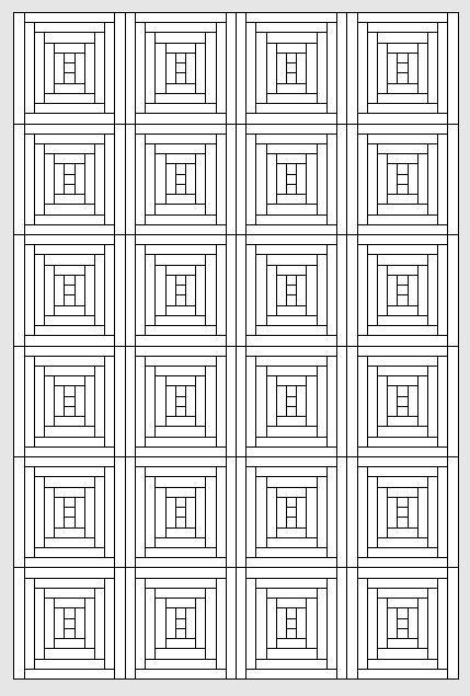 Blockhausmustervariationen (Logcabinblöcke)