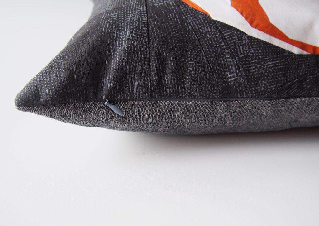 verdeckten Reißverschluss in ein Kissen einnähen