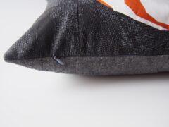 nahtverdeckter Reißverschluss in einem Kissen