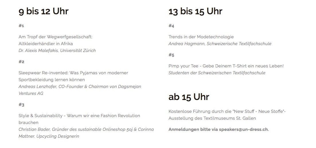 Programm Workshops
