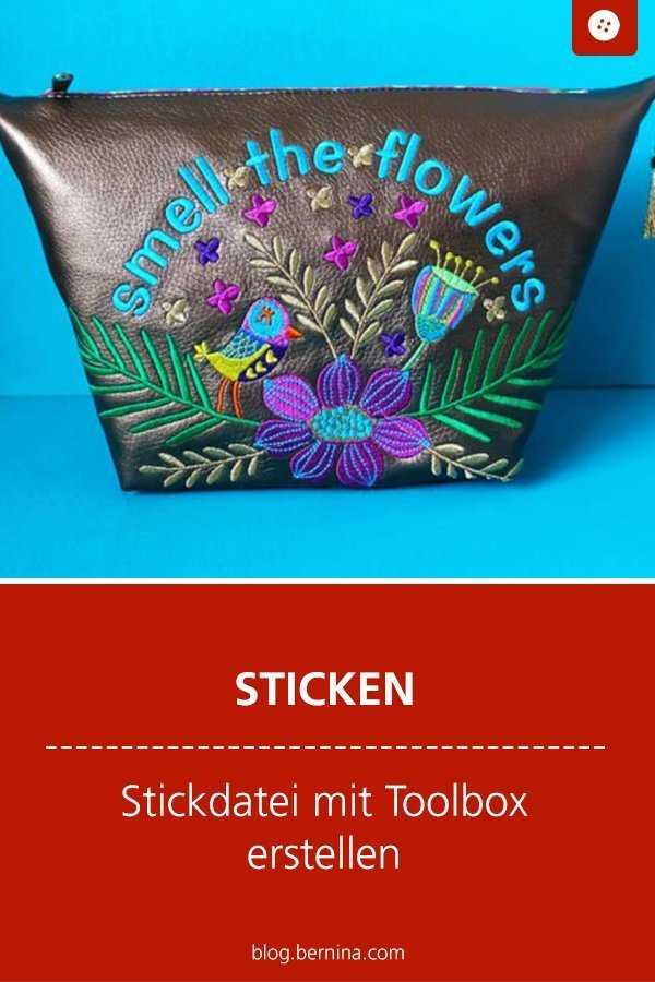 Stickanleitung : Stickdatei mit Toolbox erstellen #anleitung #stickdatei #sticken #stickvorlage #stickmuster #bernina #stickvorlage #diy #tutorial #freebie #freebook #kostenlos